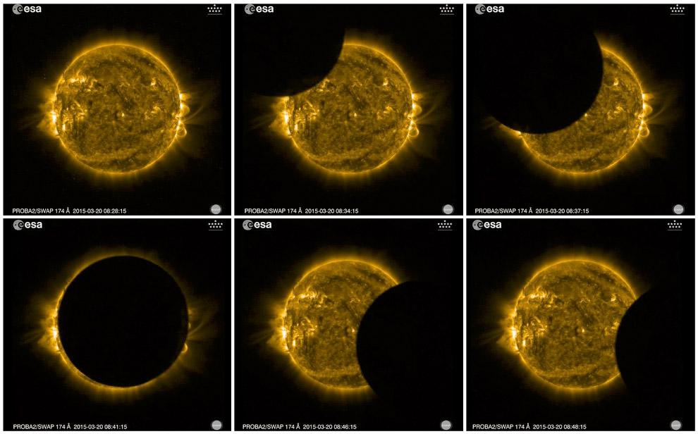 Солнечное затмение из космоса