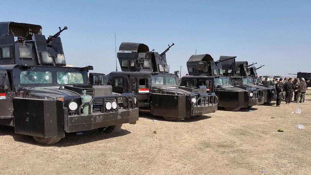 Иракские машины для борьбы с боевиками Исламского государства