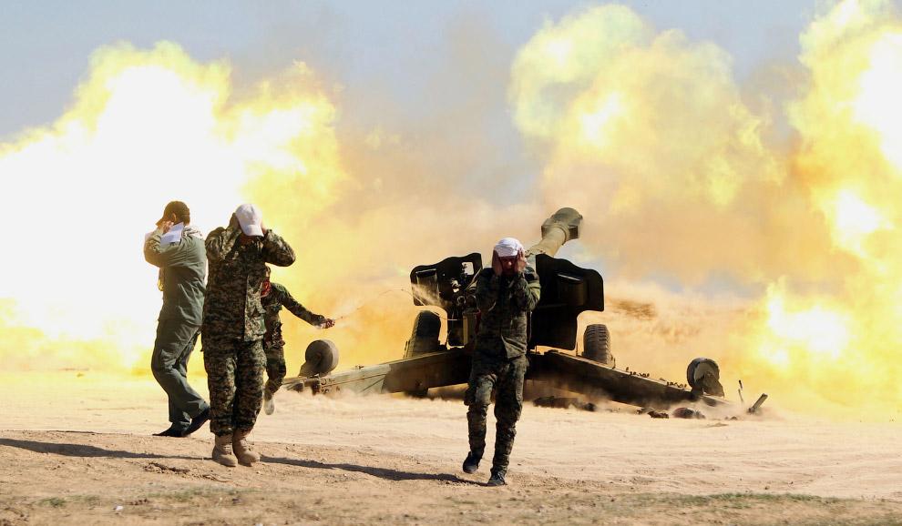 Огонь по боевикам Исламского государства