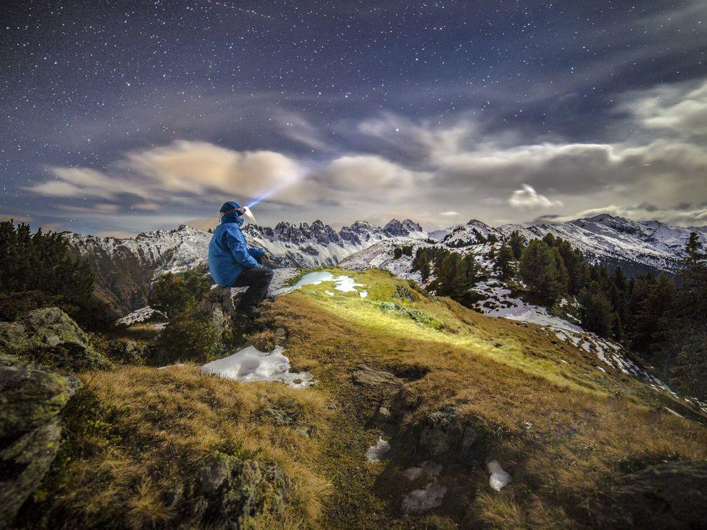 Ночь в Тирольских Альпах, Австрия