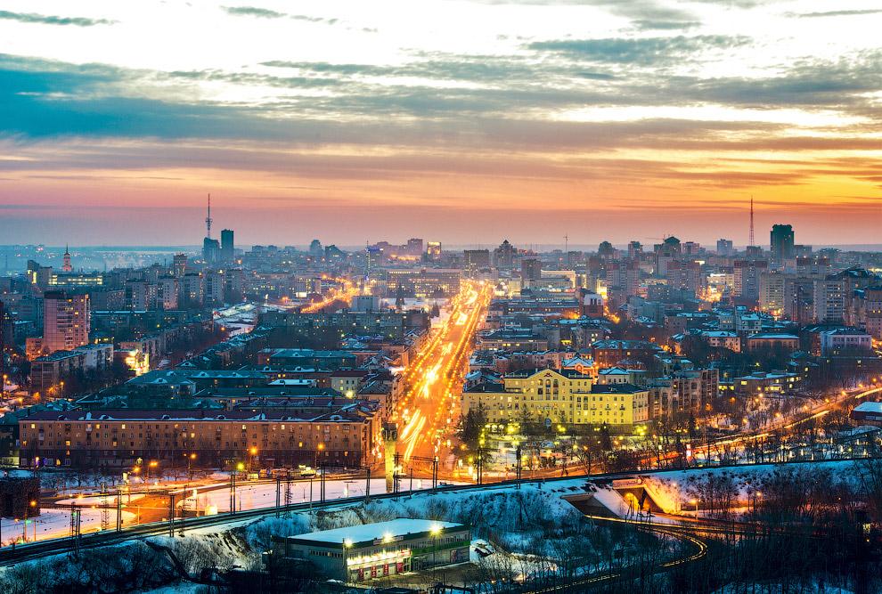 Зимняя Пермь с высоты