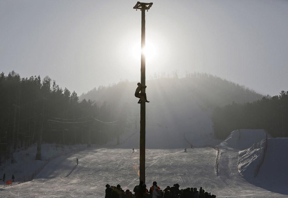 Масленица на горнолыжном курорте Бобровый лог в пригороде Красноярска