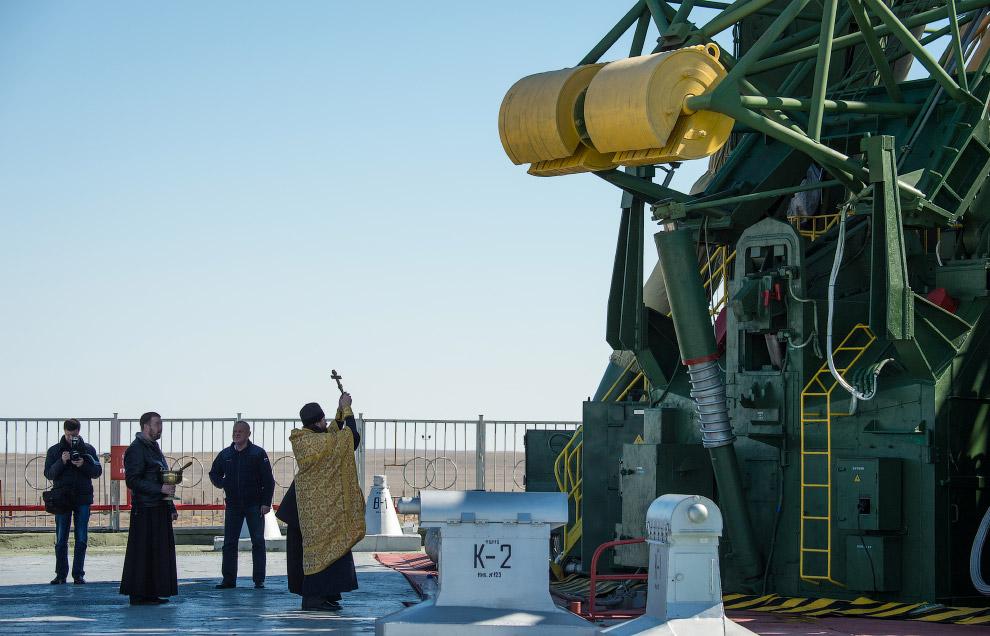 Обязательное мероприятие на Байконуре — освящение ракеты