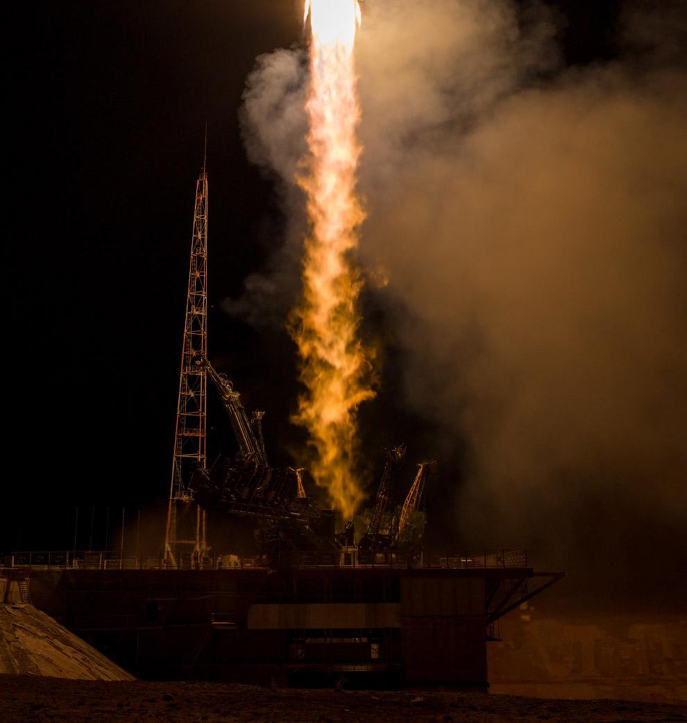 Старт космического корабля «Союз ТМА-16М»