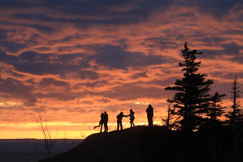 День весеннего равноденствия в Анкоридже, Аляска