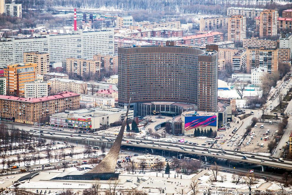 Метро ВДНХ, гостиница «Космос», музей космонавтики