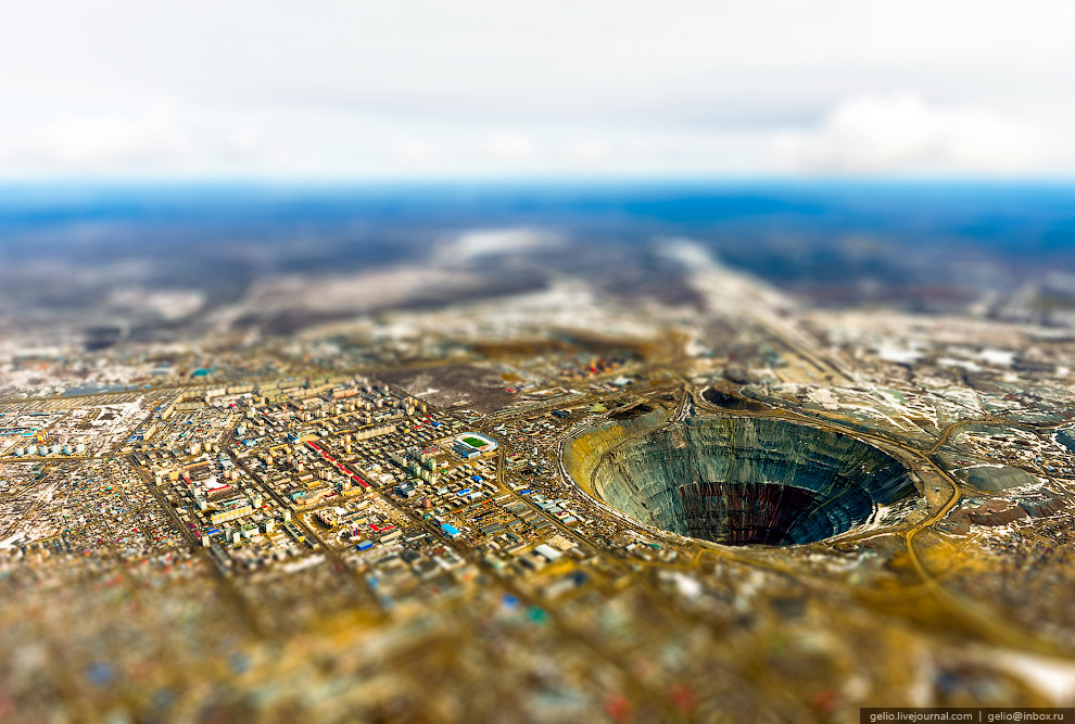 Город Мирный в Якутии