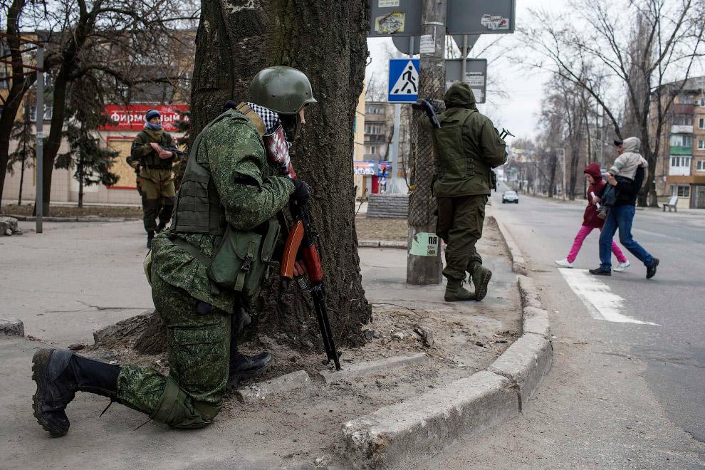 Повстанцы в Донецке