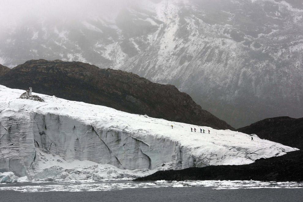 Ледник Пасторури в Национальном парке Уаскаран, Перу