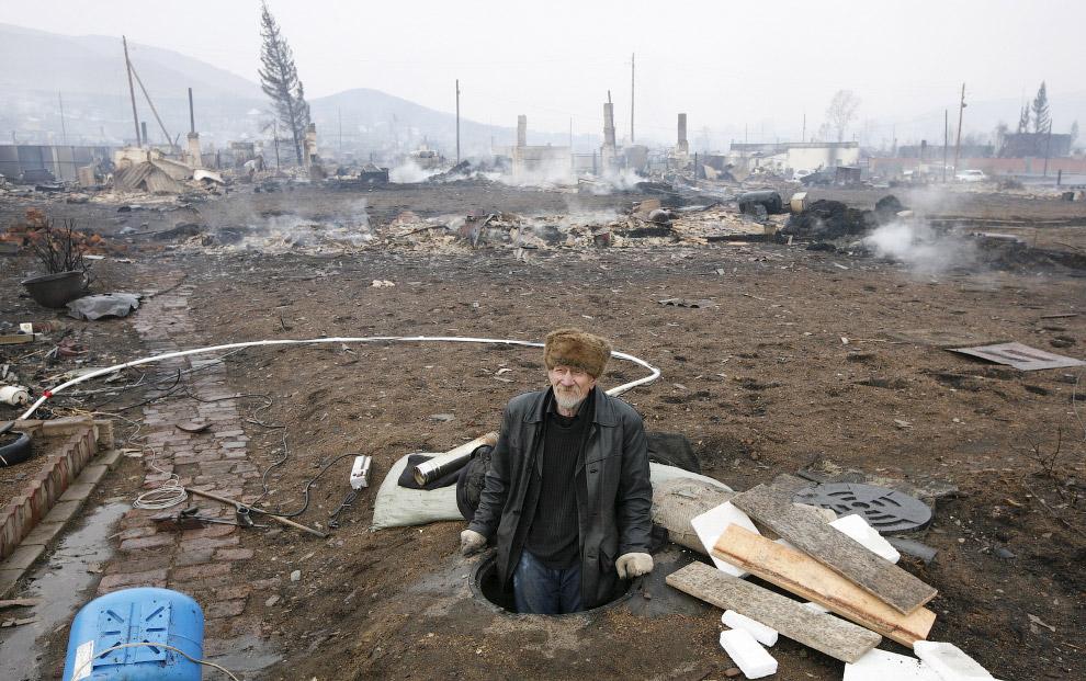 Местный житель из бывшего поселка Шира, Хакасия