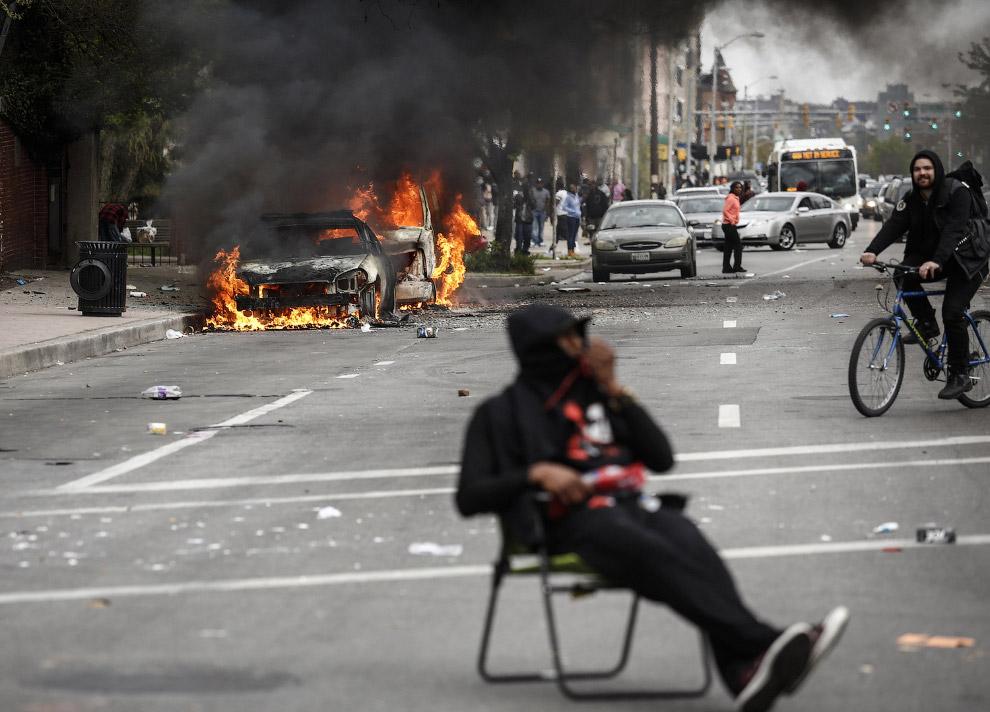 Протесты в Балтиморе