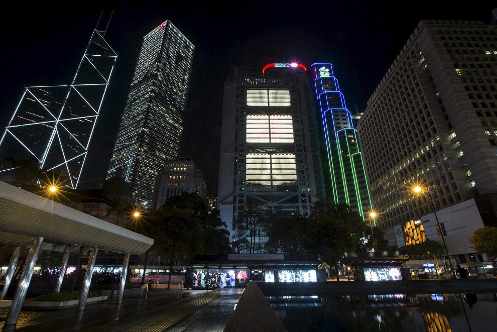 Финансовый район в Гонконге