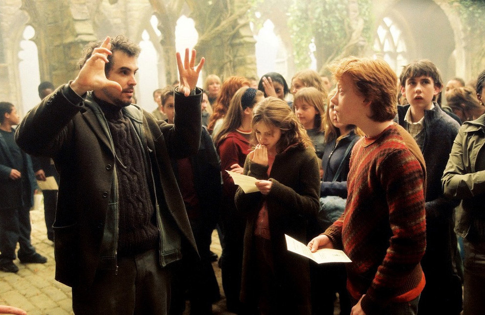 На съемках фильма «Гарри Поттер и узник Азкобана», 2004 год