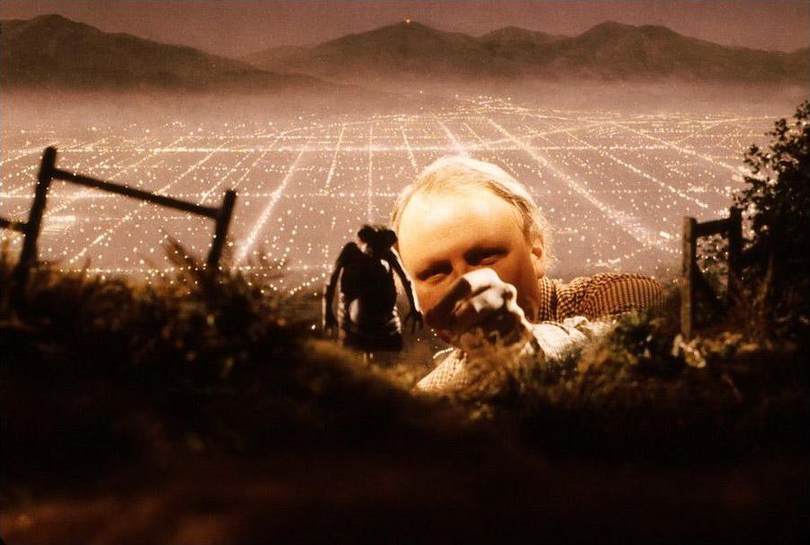 На съемках фильма «Инопланетянин»