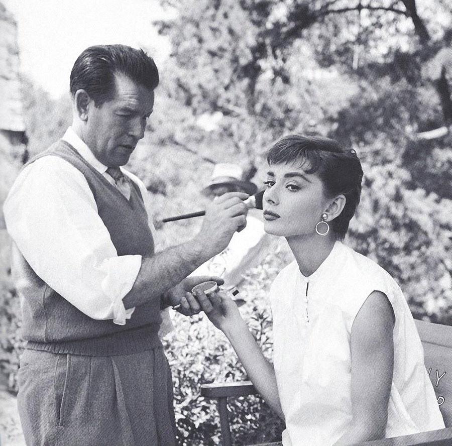 Одри Хепберн на съемках «Сабрины», 1954 год