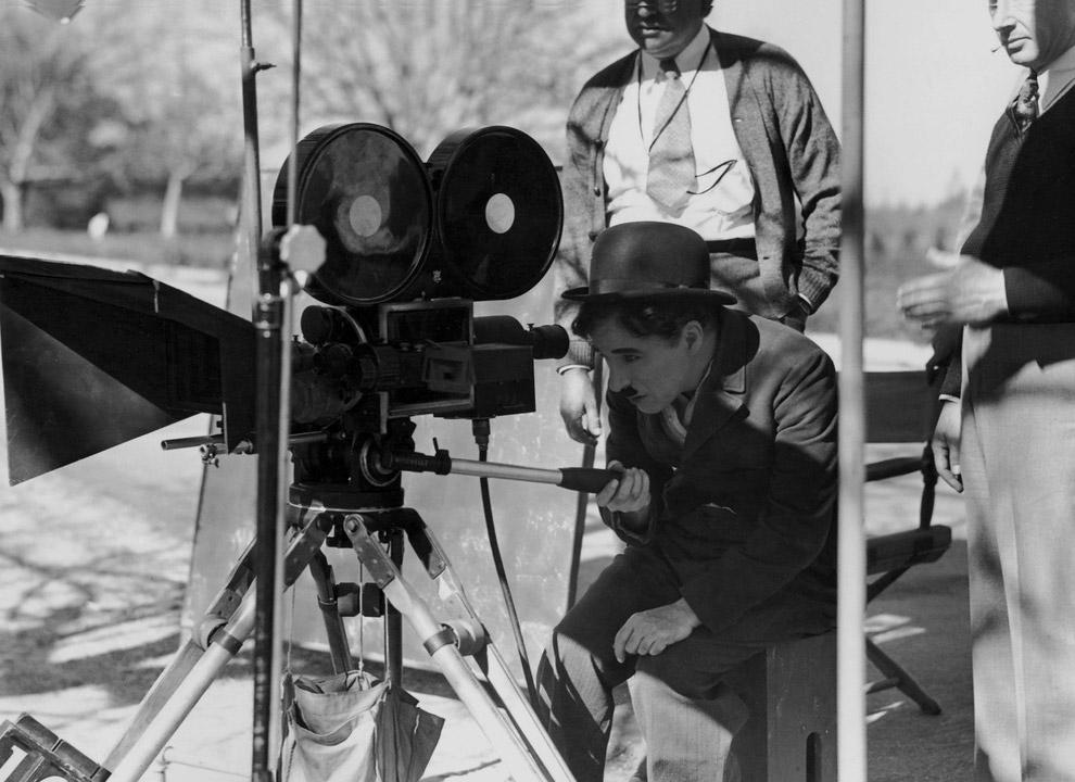 Чарли Чаплин на съемках фильма «Золотая лихорадка», 1925 год