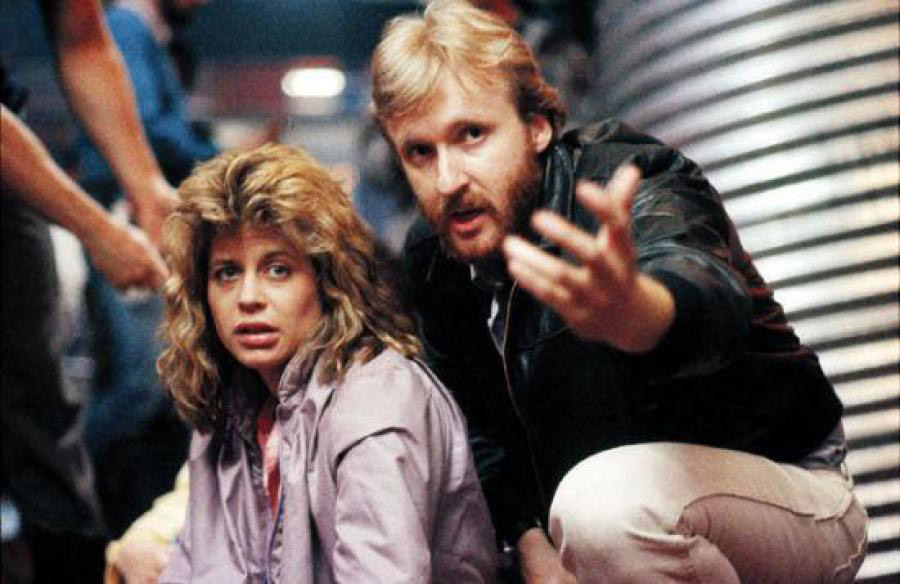 Джеймс Кэмерон и Линда Хэмилтон на съёмках фильма «Терминатор»