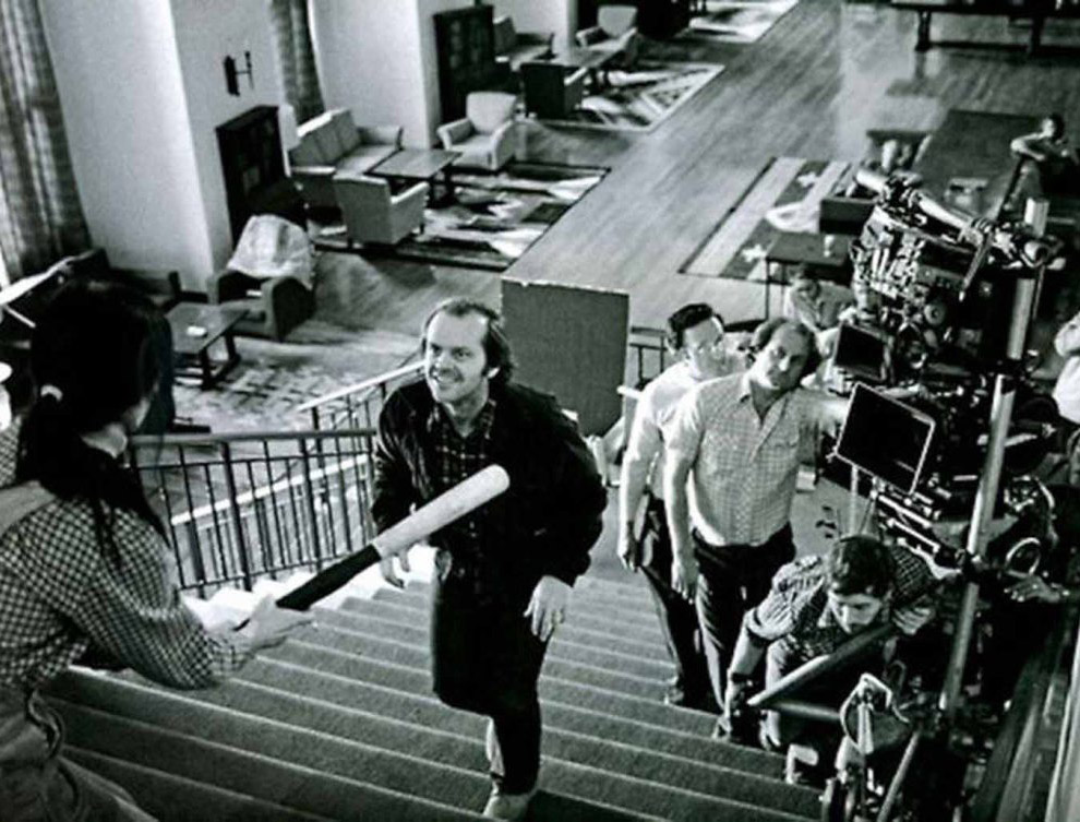 Джек Николсон на съемках фильма «Сияние»