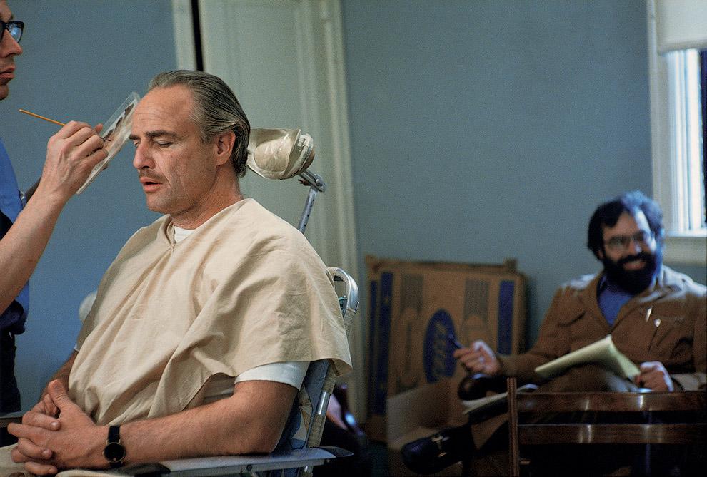 Марлон Брандо на съемках фильма «Крестный отец»