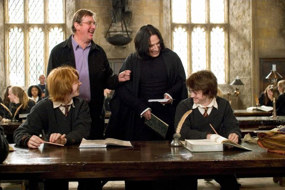 На съёмках фильма «Гарри Поттер и Кубок огня»
