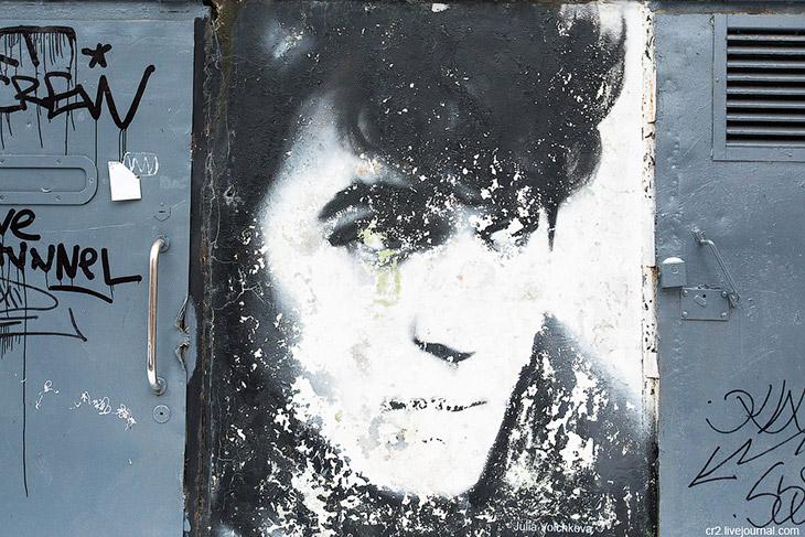 Портрет Цоя у «Камчатки»