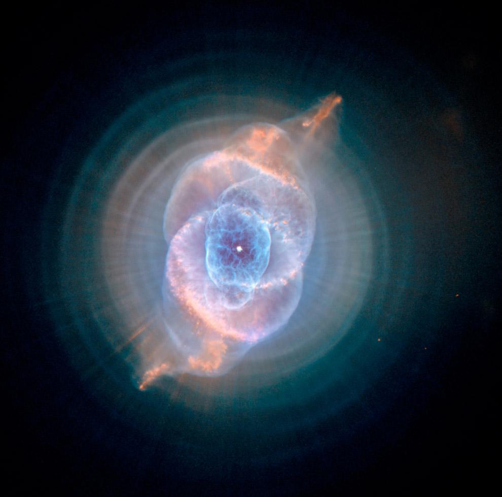 Туманность Кошачий Глаз в созвездии Дракона
