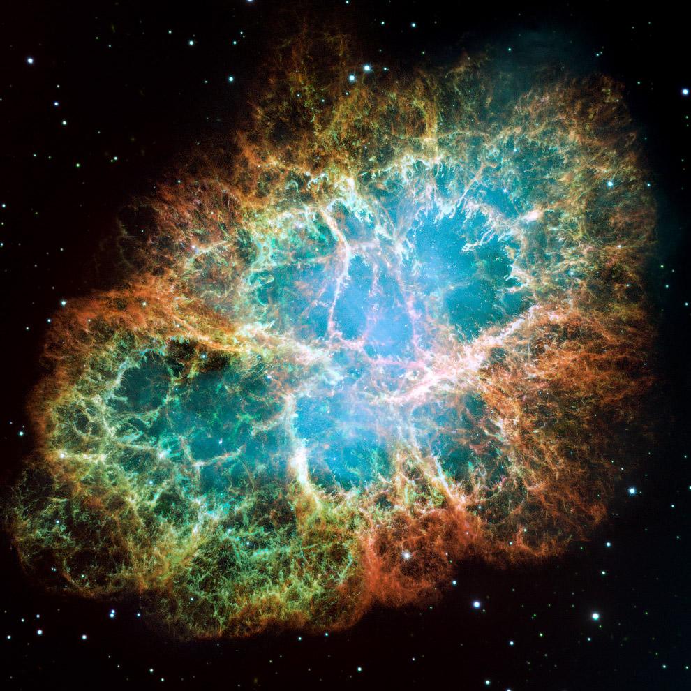 Крабовидная туманность в созвездии Тельца