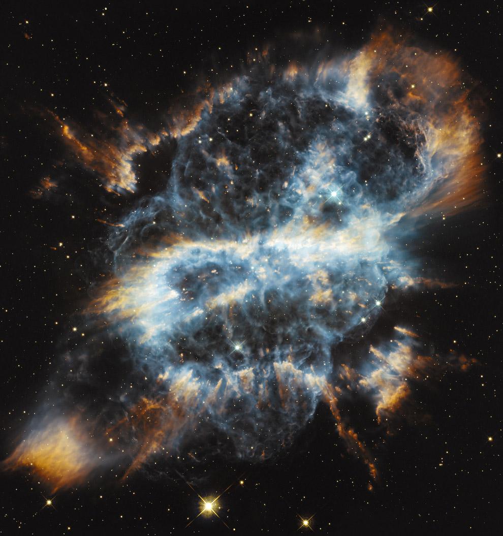 A nebulosa planetária NGC 5189, na constelação da Mosca