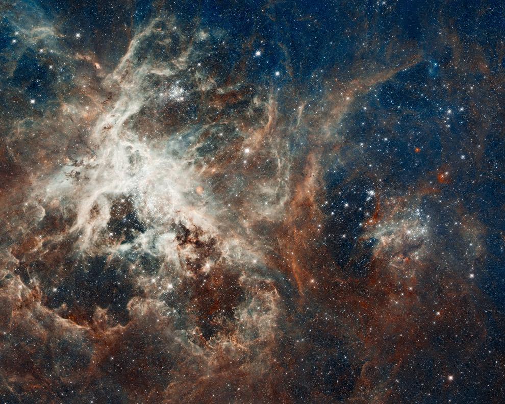 Эмиссионная туманность Тарантул в созвездии Золотая Рыба