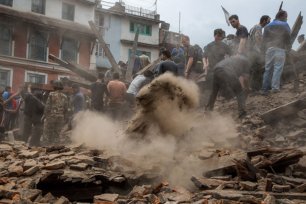 Strong earthquake and aftershocks shake Nepal