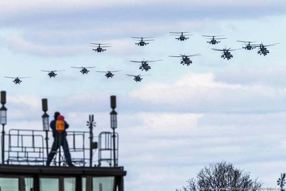Репетиция Парада Победы в воздухе