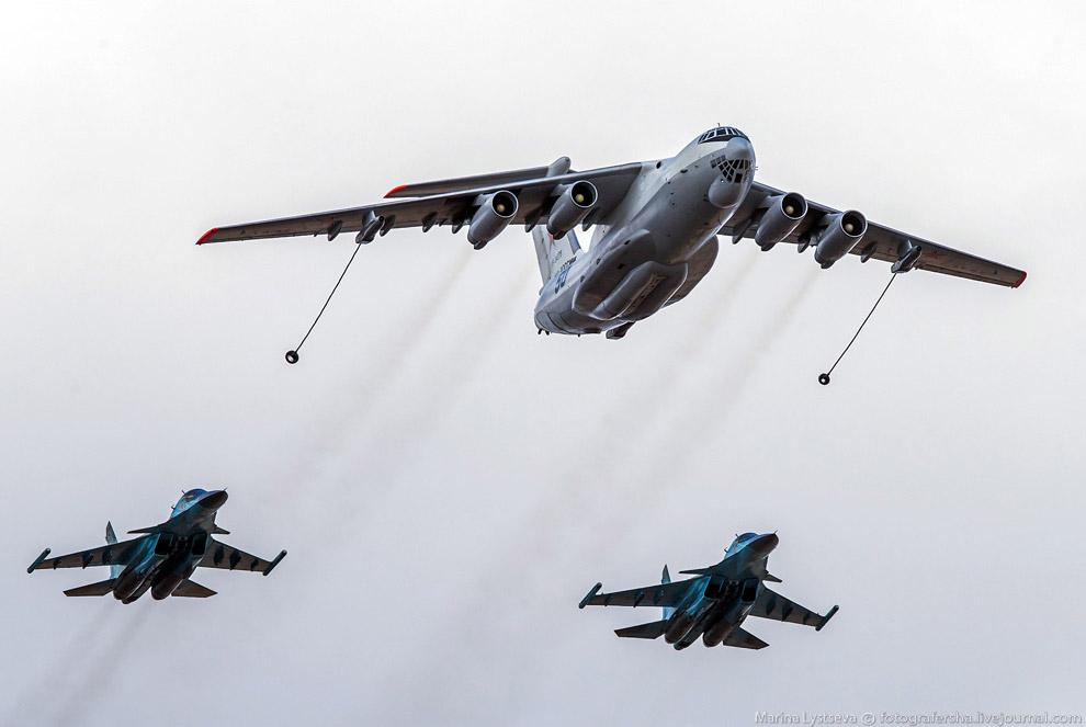 Ил-78 и Су-34