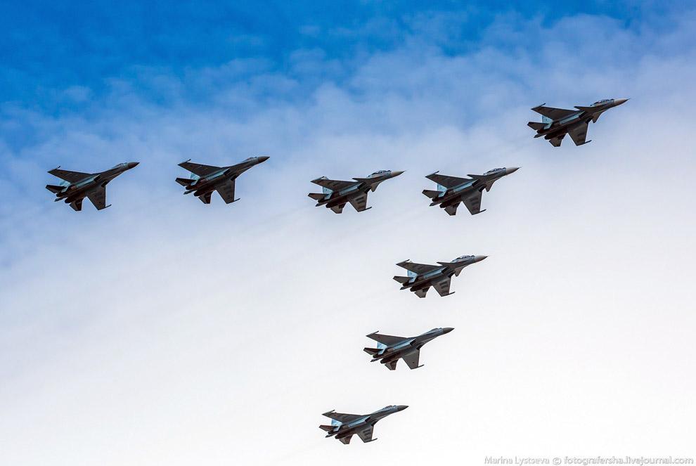 Истребители Су-30СМ и Су-35С