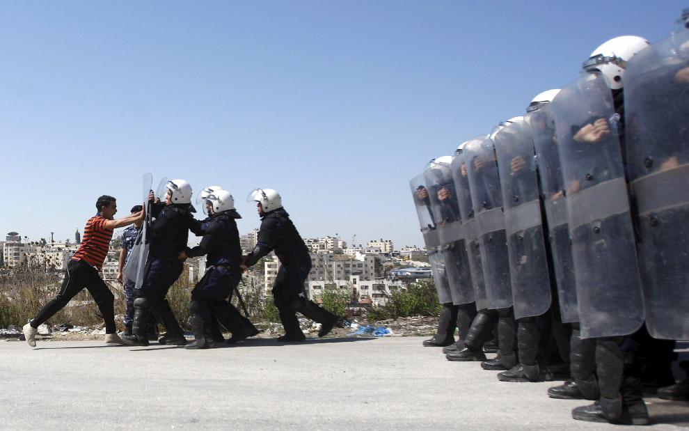 Нет, это не протесты, это учения на Западном берегу