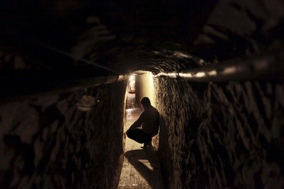 Вот так подземный путь из Мексики в США выглядел изнутри