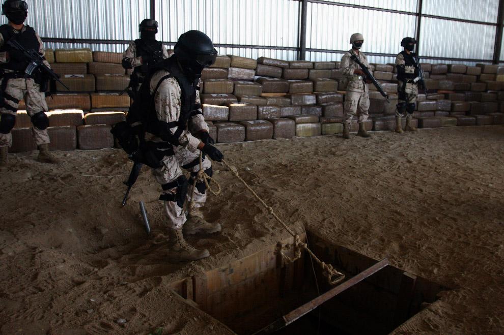 Большой подземный тоннель обнаружен в Тихуане