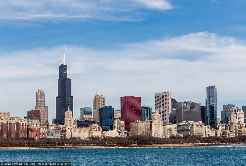 Уиллис-Тауэр и панорама Чикаго