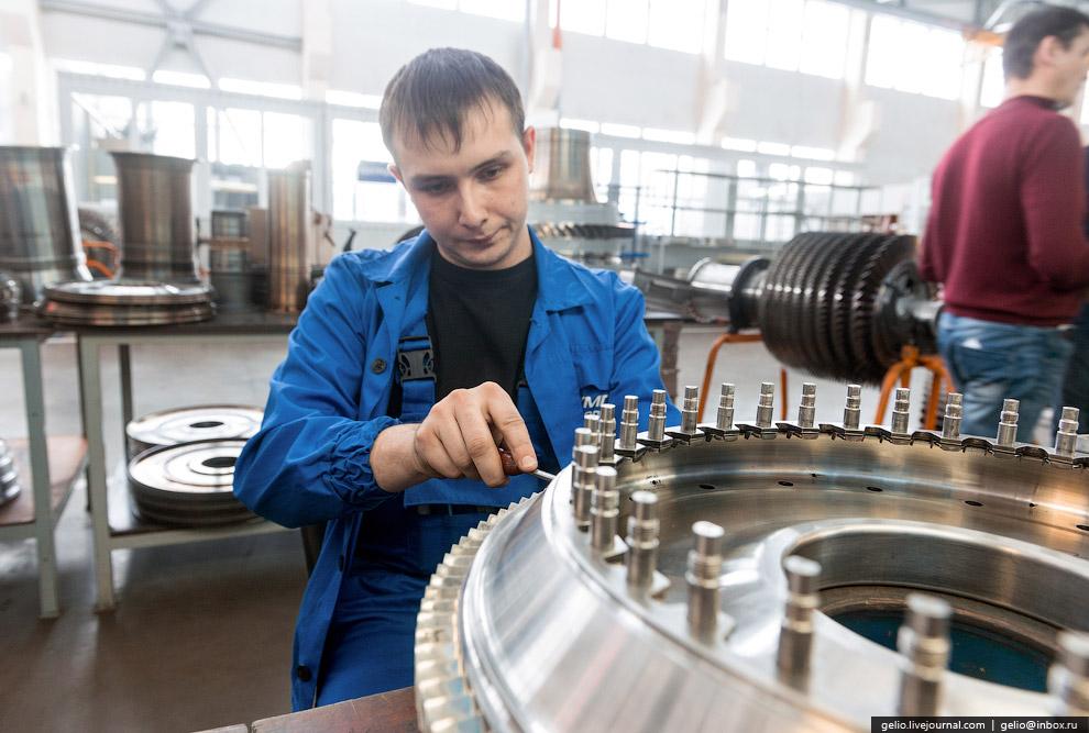Сборка роторов турбины