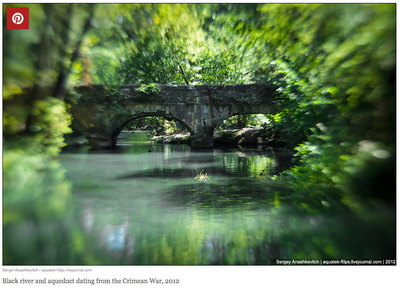 Заброшенный акведук времен Крымской войны
