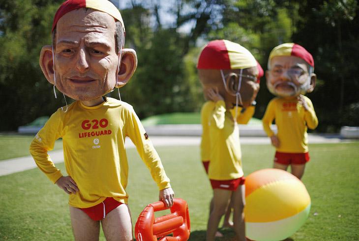Протесты около места проведения ежегодного саммита лидеров G20 в Брисбене
