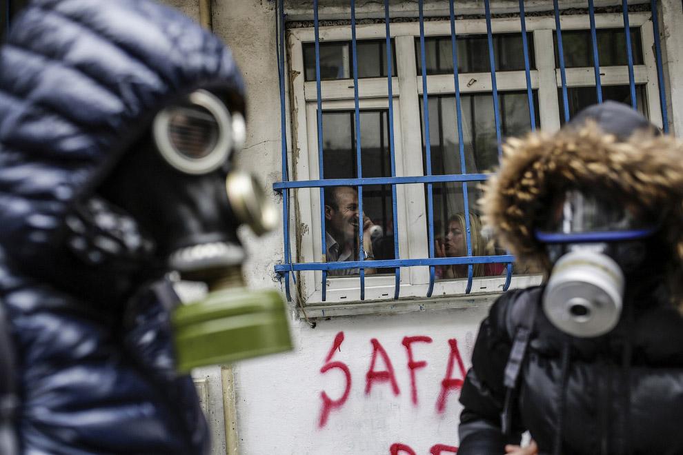 Протестующие на 1 мая в Стамбуле