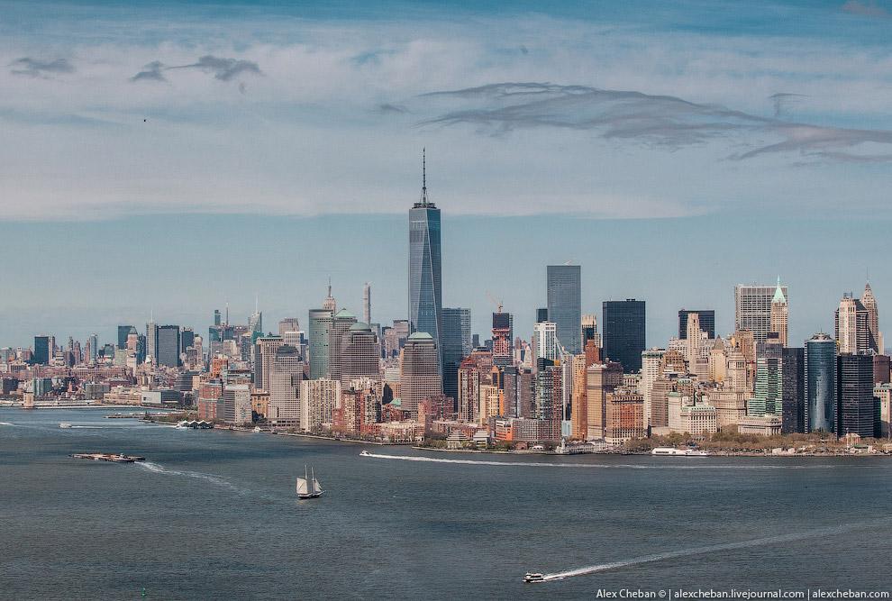Вид на даунтаун Манхэттена: