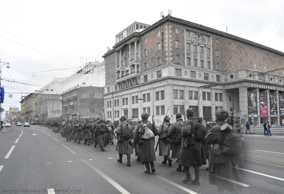 Стрелковые роты на марше