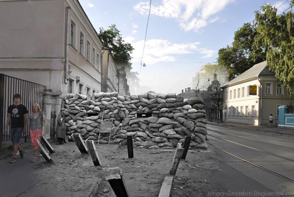 Баррикада на Новокузнецкой улице