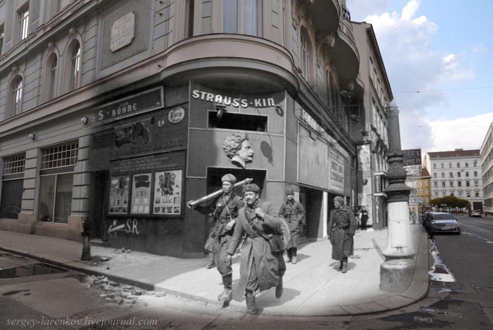Минометный расчет на ул. Фаворитенштрассе