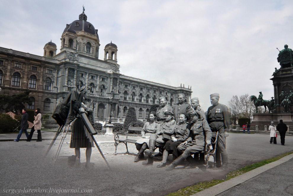 Фото на память у памятника Марии Терезе