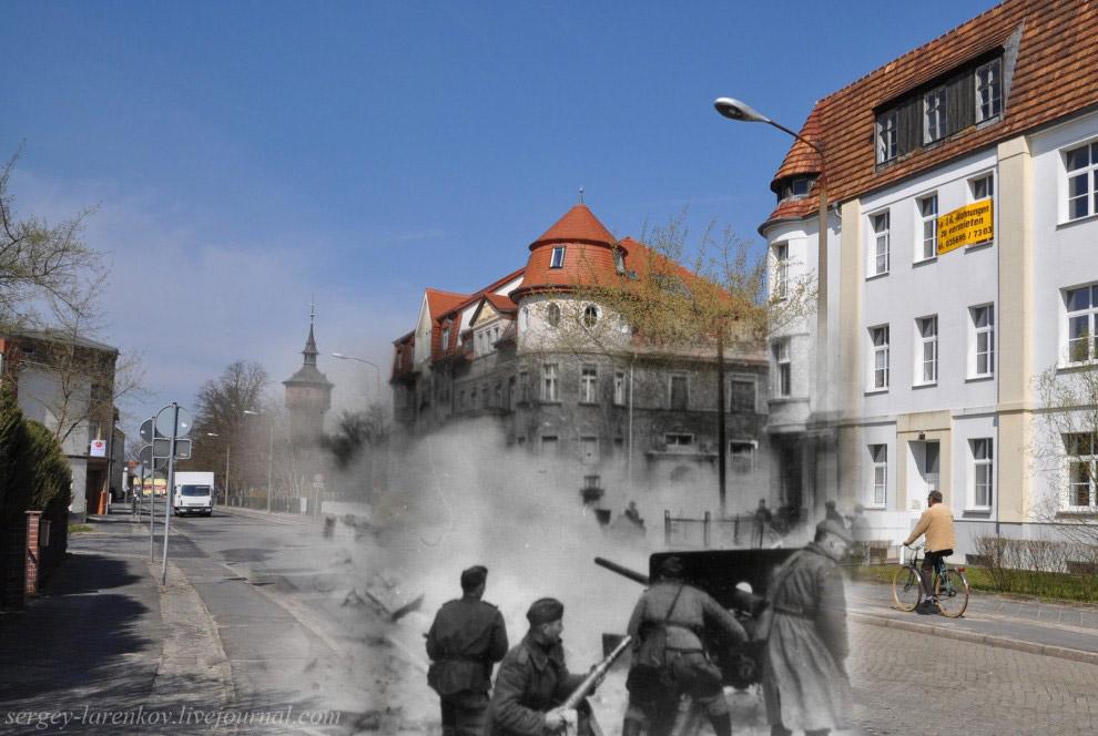 Город Форст, начало наступления Первого Украинского фронта