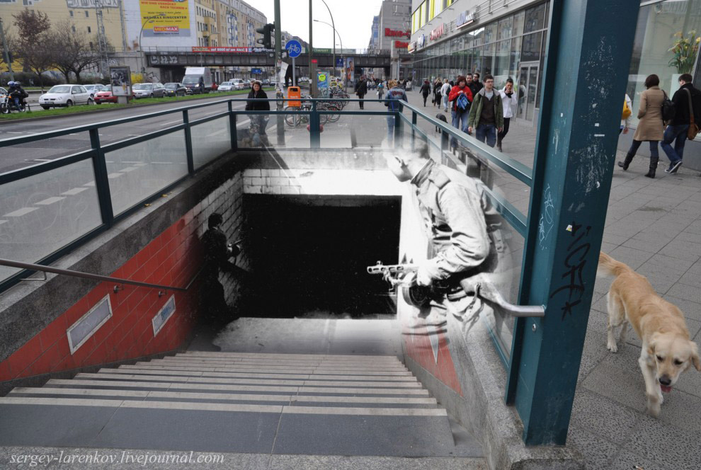 Бой за станцию меро Франкфуртераллее - Frankfurter allee
