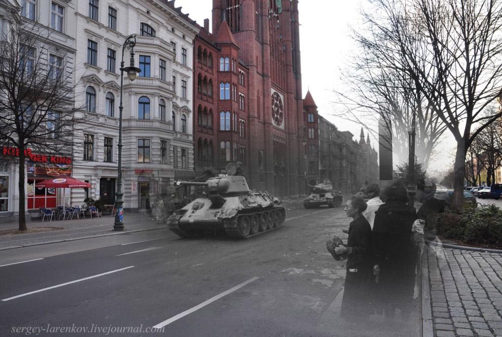 Советские танки на ул. Мерингдамм — Mehringdamm