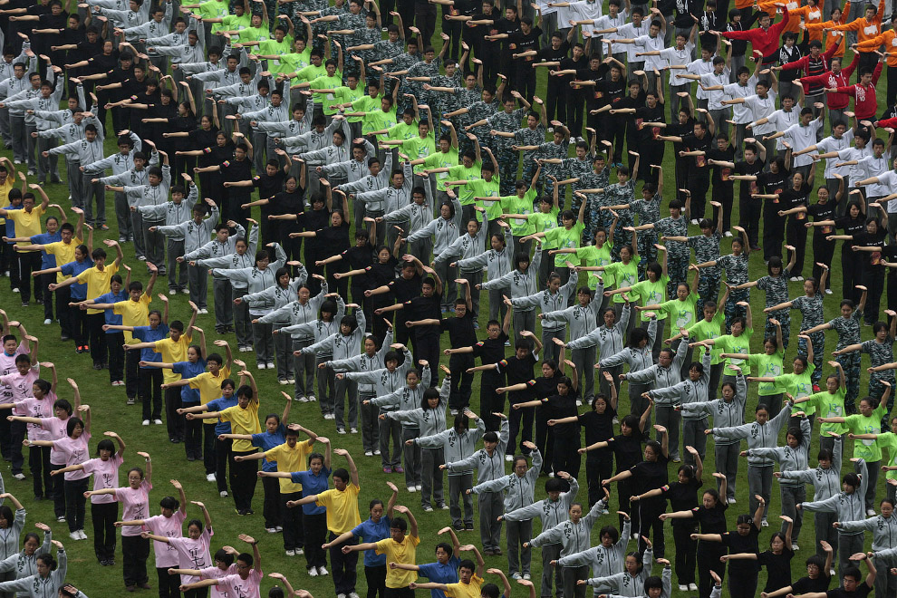 Соревнования по боевым искусствам в средней школе в Нанкине